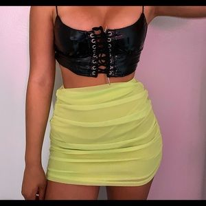 Neon Fashion Nova Mini Skirt